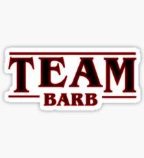 Stranger Things Team Barb Design Sticker