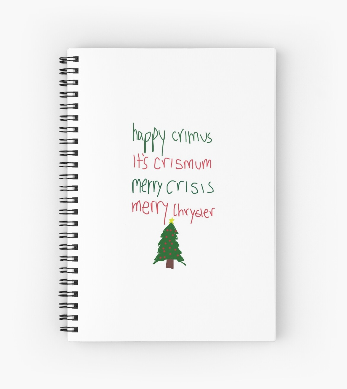 Merry Christmas Vine.Merry Christmas Vine Spiral Notebook By Prlyons