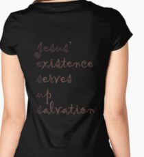 Jesus' existence serves up salvation Women's Fitted Scoop T-Shirt