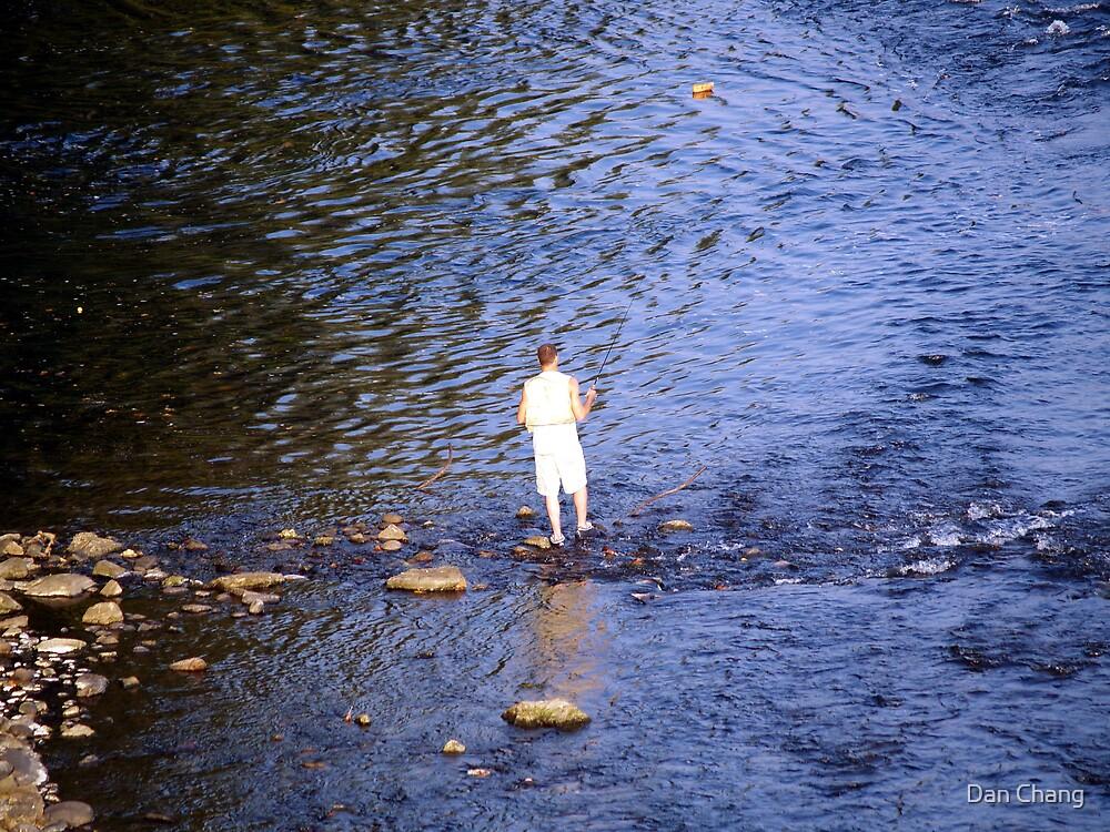 fishing Lehigh River by Dan Chang