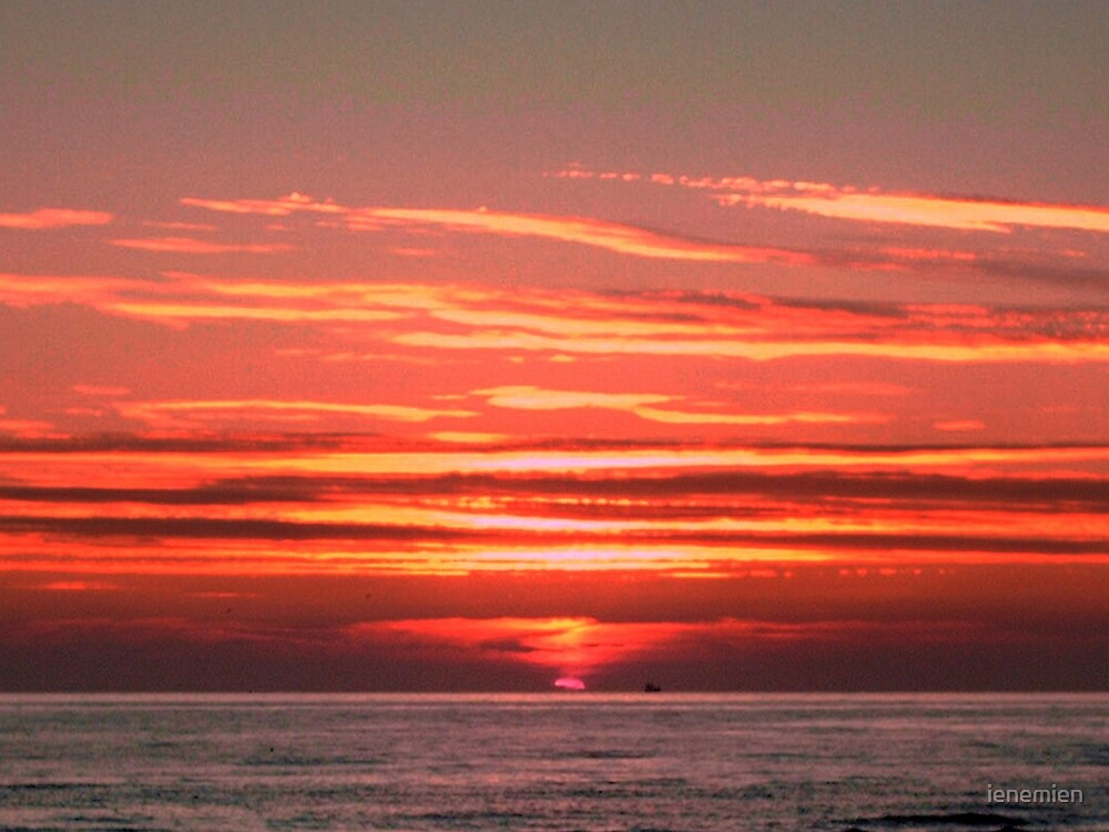 Sunset Colors at Sea by ienemien