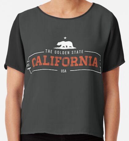 California American State Design Chiffon Top