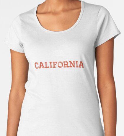 California American State Design Premium Scoop T-Shirt