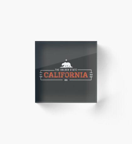 California American State Design Acrylic Block