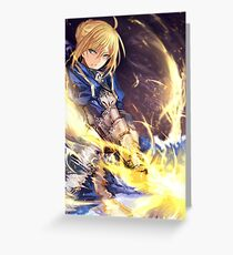 Fate Stay Night Greeting Card