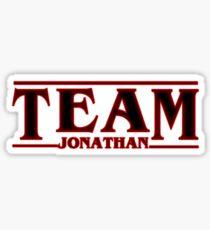 Stranger Things Team Jonathan Design Art Sticker