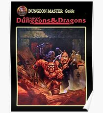 Vintage Dungeons & Dragons DM Rule book (Remastered) Poster