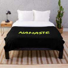 NAMASTE AF Throw Blanket