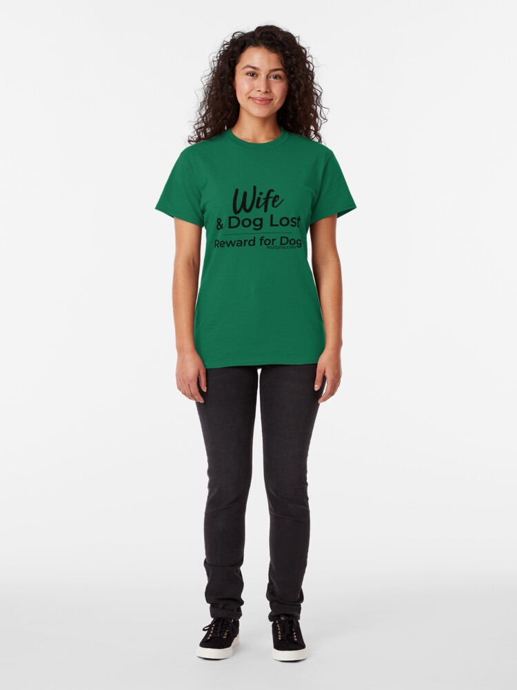 Alternate view of Wife and Dog Black Text Classic T-Shirt