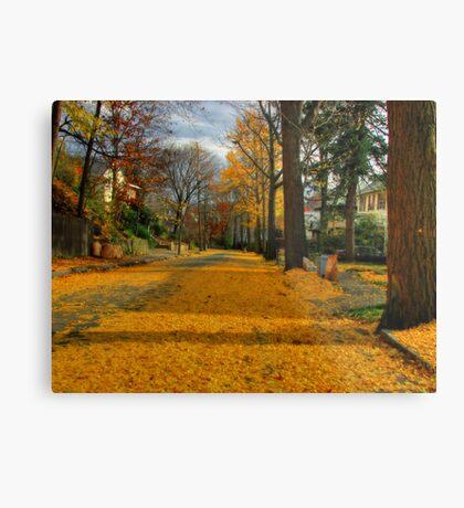 Golden road Metal Print