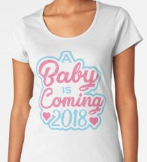Expecting Baby 2018 Women's Premium T-Shirt