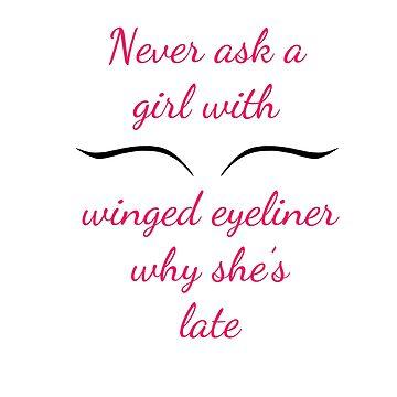 Winged Eyeliner  by demonhatter