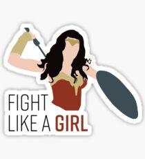 Fight Like a Girl Sticker