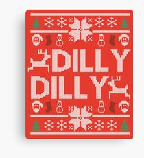 dilly dilly a true friend of the crown bud light  christmas sweater ugly sweatshirt  Canvas Print