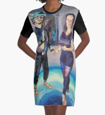 Humans in the Visionary Age Graphic T-Shirt Dress