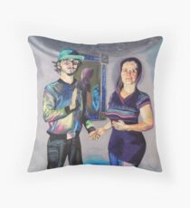 Humans in the Visionary Age Throw Pillow