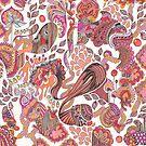 Pink Paisley by Marium Rana