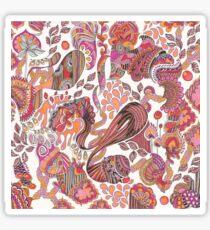 Pink Paisley Sticker
