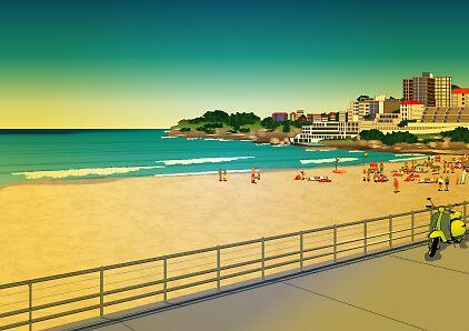bondi beach by Lara Allport