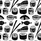 Sushi Pattern by Louise Norman
