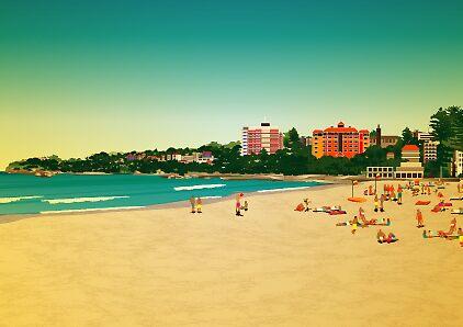 Manly Beach by Lara Allport
