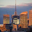 Downtown Sunset by Judith Oppenheimer