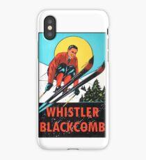 Whistler Blackcomb Vintage Ski Decal iPhone Case/Skin