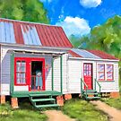 Country Cottage Art - Summer At Grandma's House by Mark Tisdale