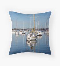 Valentine Yachts Throw Pillow