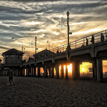 Huntington Beach Pier by wildshots