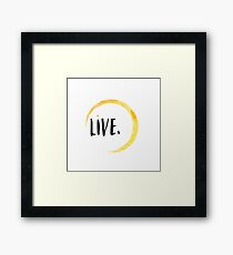 Yellow live water color Framed Print