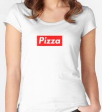 Pizza Supreme Style Logo Women's Fitted Scoop T-Shirt