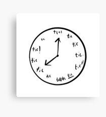 Lienzo Reloj Tic Tic Tourettes