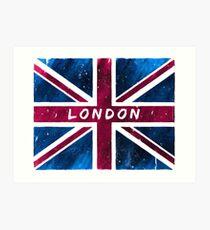London British Union Jack Flag Art Print