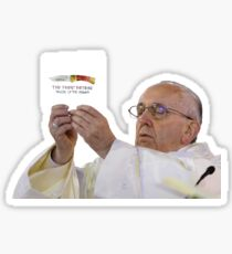 the pope holding an Item Sticker