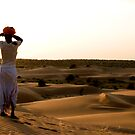 Camel driver looking for his camels by lizzyc
