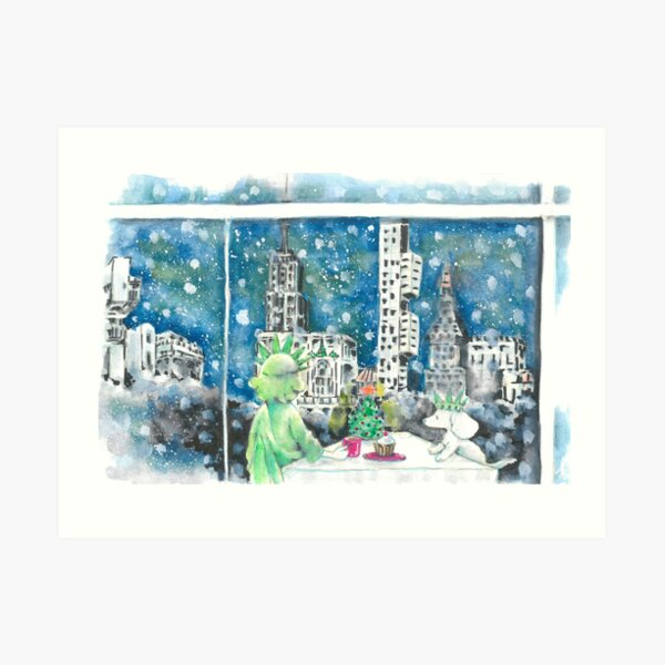 White Christmas, NYC Art Print