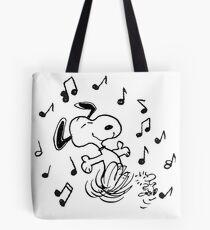 dancing snoopy Tote Bag