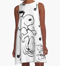 dancing snoopy A-Line Dress