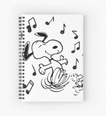 dancing snoopy Spiral Notebook