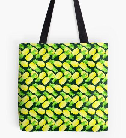 Pineapples - Dark Green Tote Bag