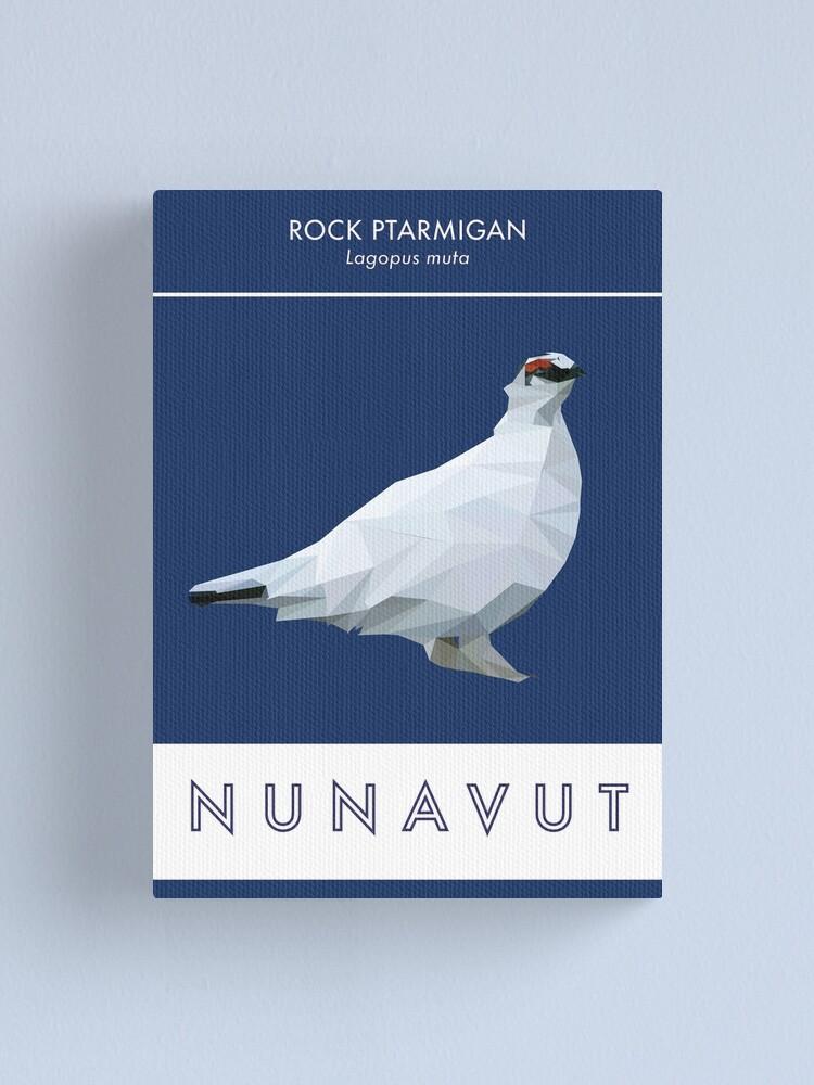 Alternate view of Nunavut - Rock Ptarmigan Canvas Print