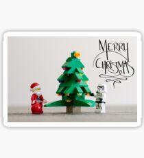 Santa & Larry Sticker