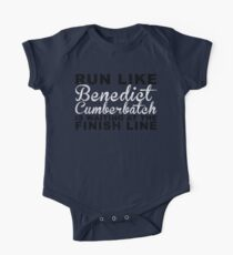Run Like Benedict Cumberbatch is Waiting at the Finish Line Kids Clothes
