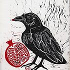 Raven and Pomegranate  by Stacie Arellano