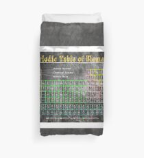 Old School Chalkboard Periodic Table Of Elements Duvet Cover