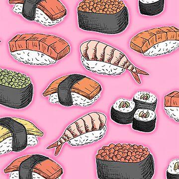 Love Sushi pink by NiNino