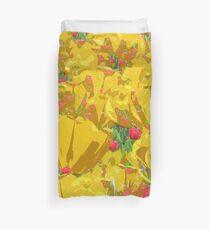 Yellow Tulip Mania Duvet Cover