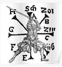 VomTag. Mittelalterlicher Renaissance-Schwertkämpfer Poster