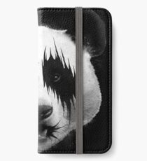 BIG BLACK METAL PANDA iPhone Wallet/Case/Skin